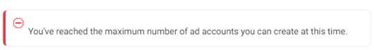 maximum number of ad accounts